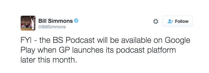 Podcasts leak tweet