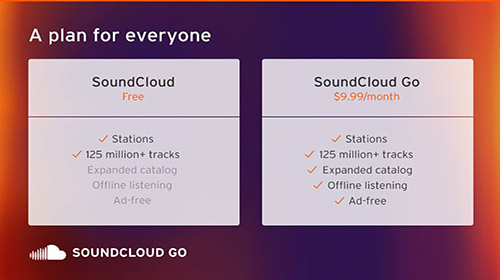 SoundCloud Go music streaming Europe