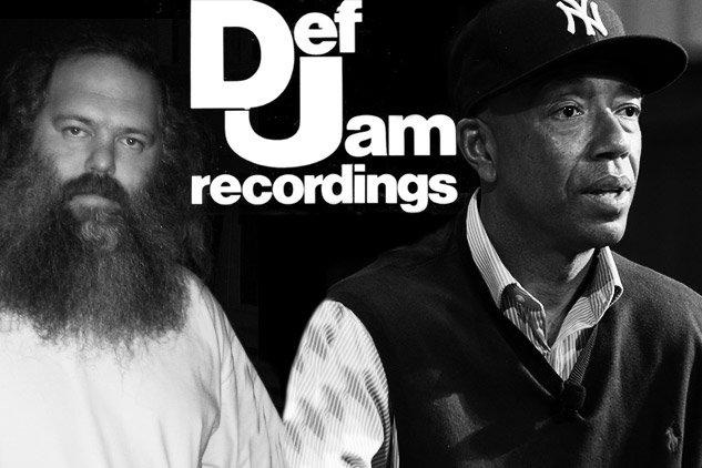 Russell Simmons (right) helped build Def Jam Records after it was founded by legendary producer Rick Rubin (left)