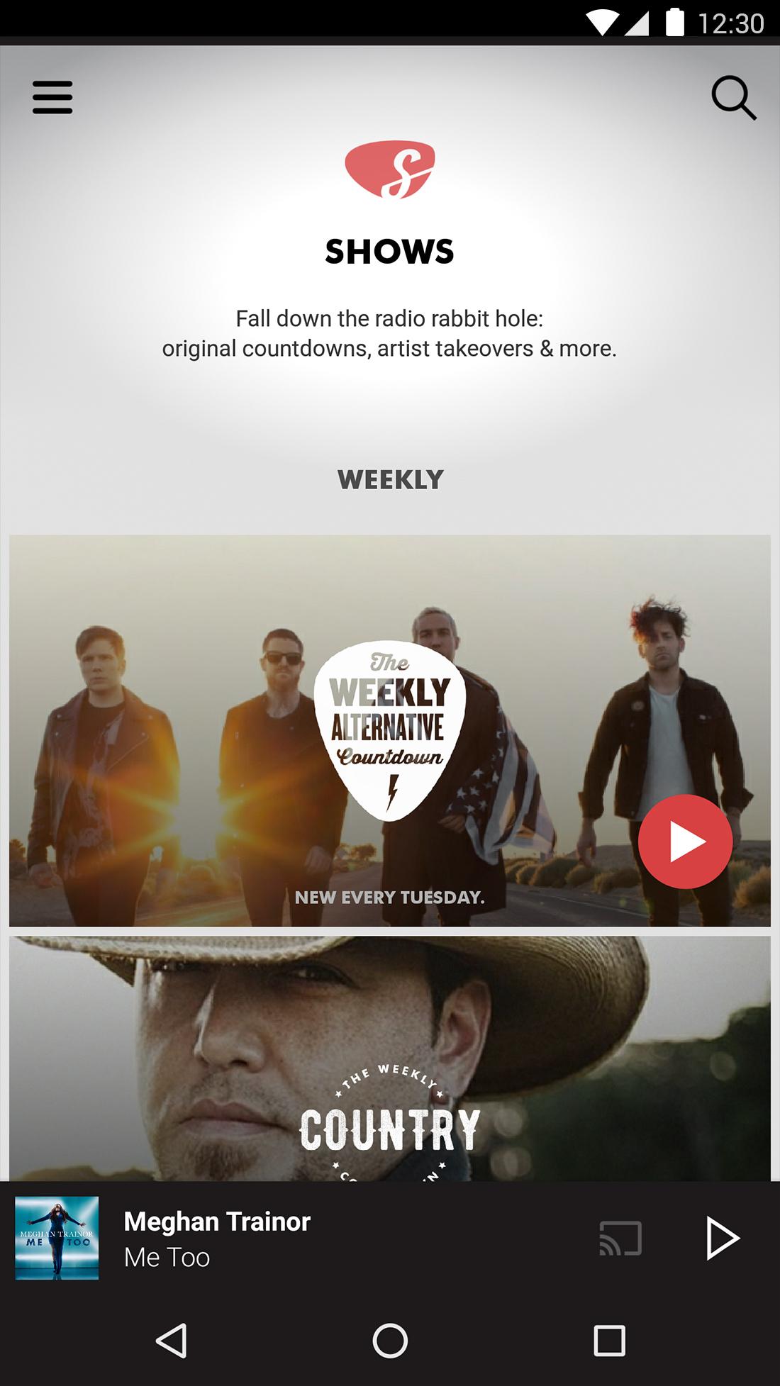 Slacker radio music streaming