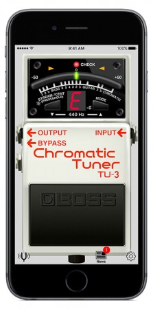 BOSS pedals music iOS Android guitar bass