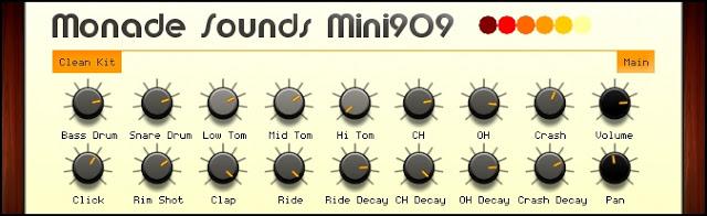 Roland TR-909 emulator DAW drum machine kit drums