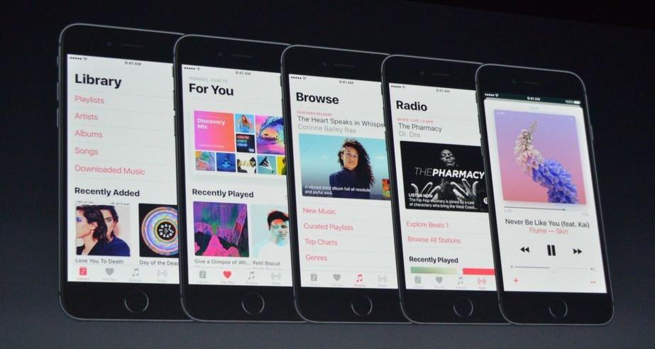 Apple Music redesign update design look