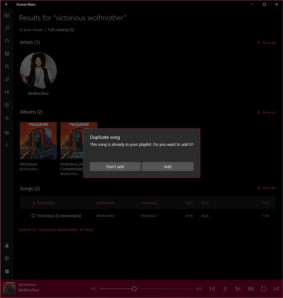 Windows Insider Microsoft update Groove music streaming service