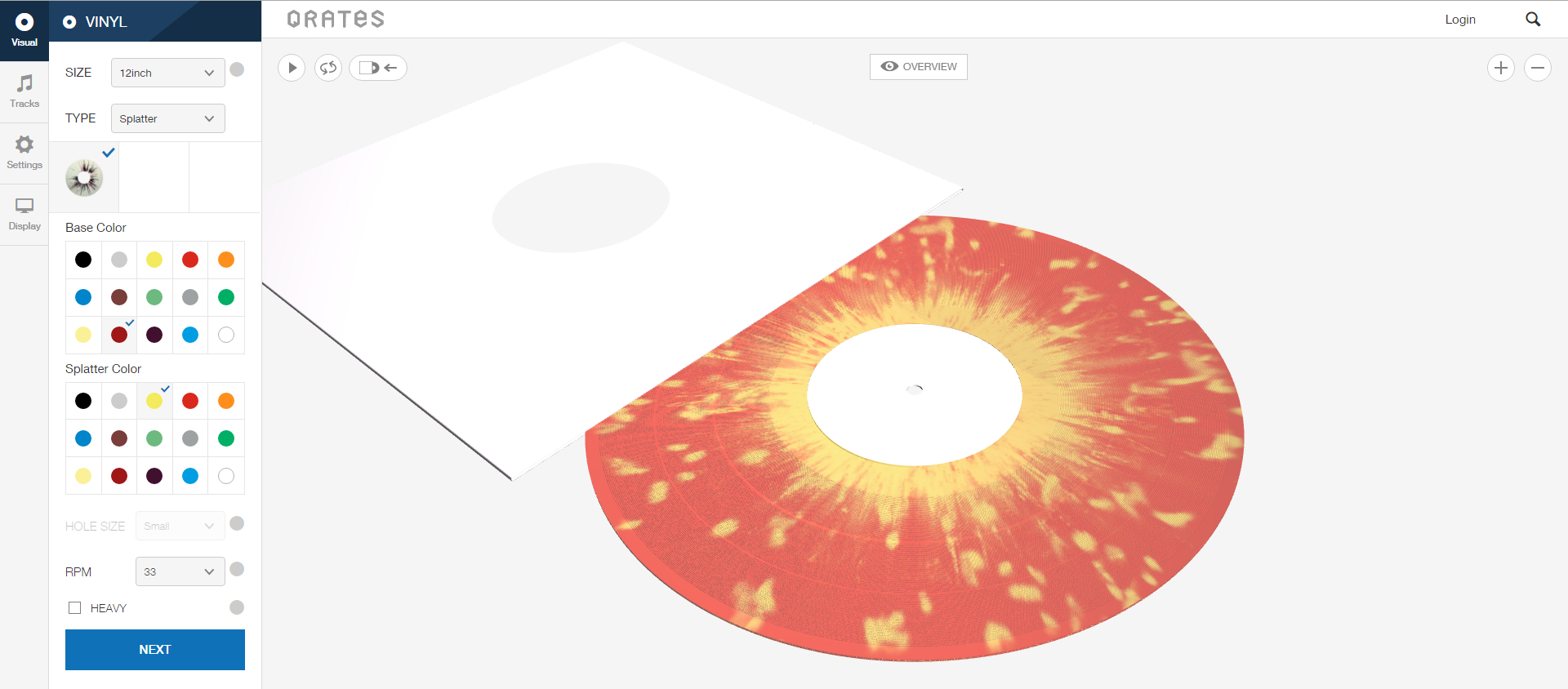 custom vinyl creation Qrates indie artists