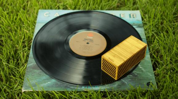 RokBlok vinyl records play wirelessly no turntable portable