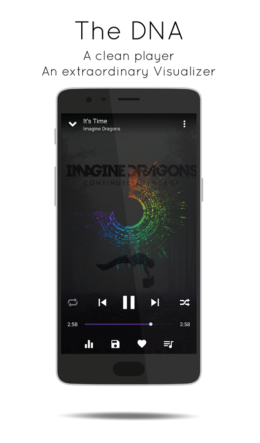 MusicDNA dna app Android music player application equaliser stream soundcloud