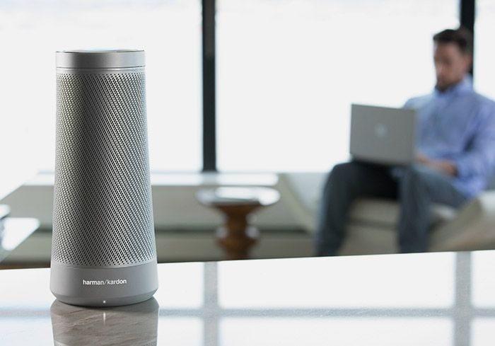 Invoke Cortana powered speaker microsoft harman kardon home amazon echo rival google home