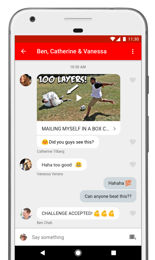YouTube sharing share friends app application video videos