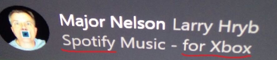 Major Nelson Larry Hryb Xbox Music Spotify music streaming console microsoft