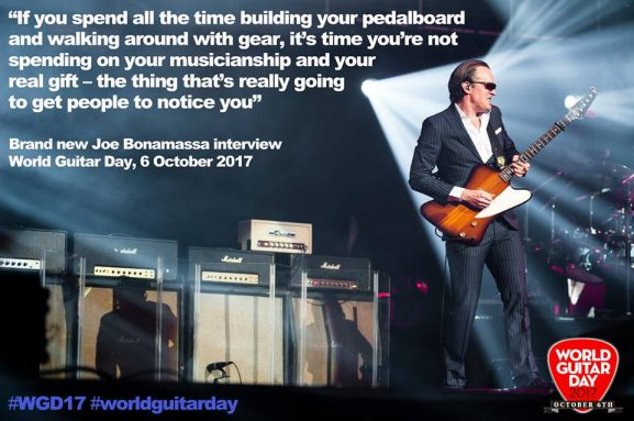 World Guitar Day guitarist music instrument celebration joe bonamassa joe satriana
