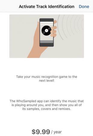 WhoSampled application app mobile sample songs scan shazam info