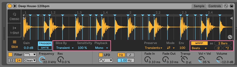 stretching samples creative sampling music production sample ableton daw software cutting cut chop slice