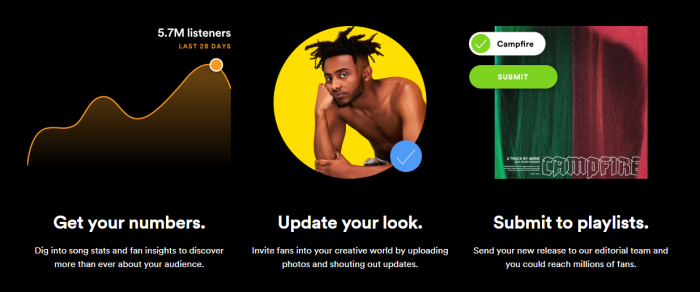 Spotify for Artists profile customisation customize customization edit picture streaming music