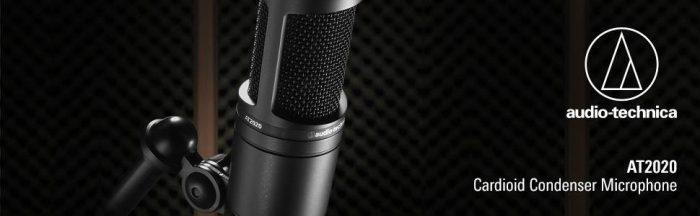 Audio Technica AT2020 studio cardioid condenser microphone cyber monday deals