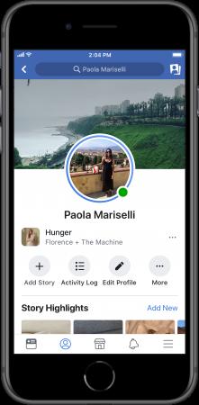 Facebook Music Lip Sync Live stories profile
