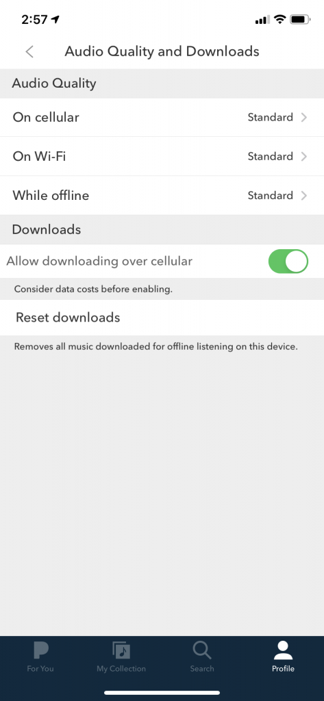Allow downloading over cellular