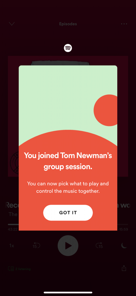 Spotify Group Sessions Join
