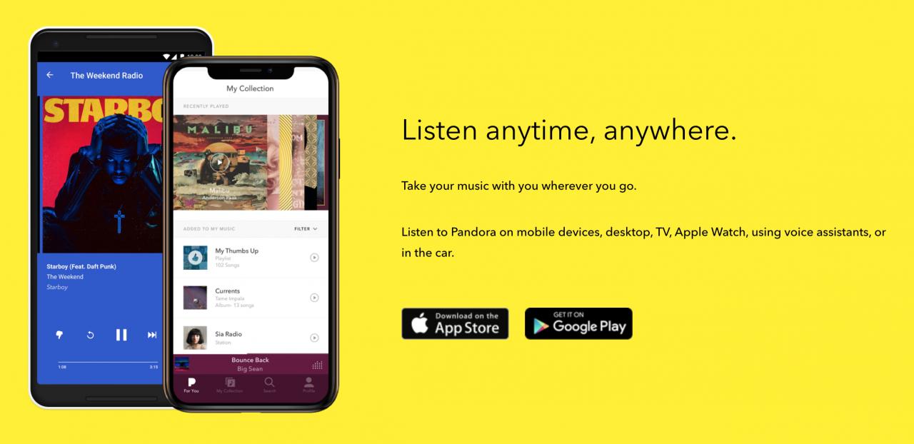 Free Pandora alternatives outside of the US - RouteNote Blog
