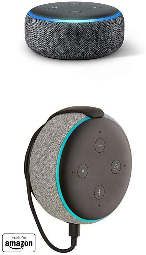 Echo Dot (3rd Gen) bundle withMade for Amazon Mount for Echo Dot