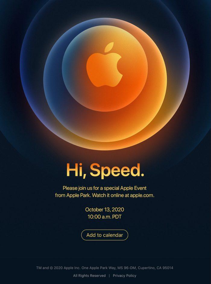 Hi, Speed Apple Event