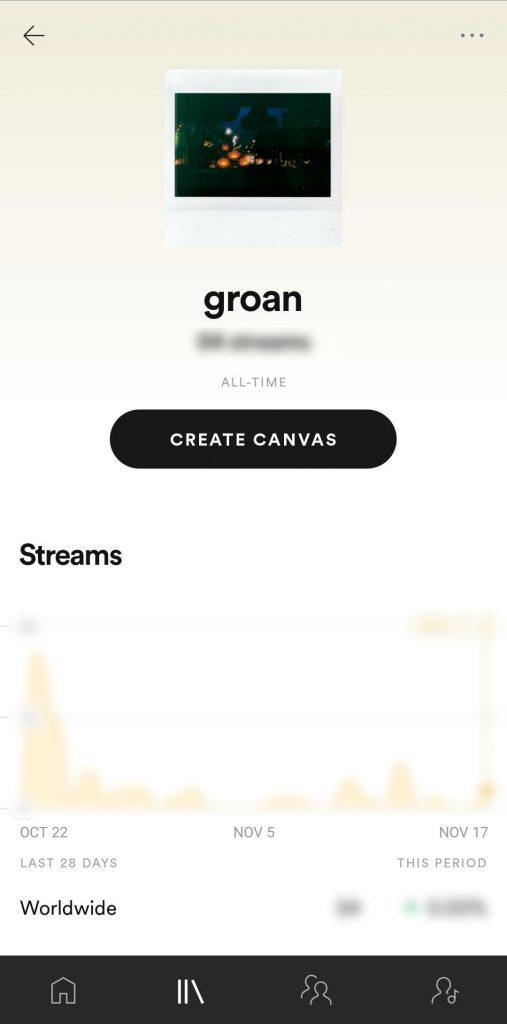 Spotify mobile create canvas