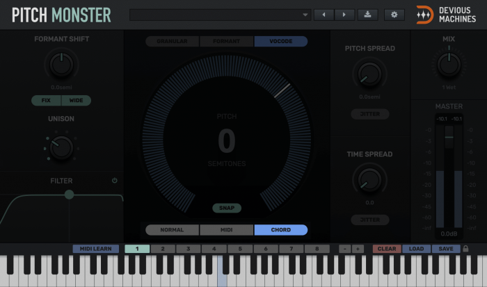 Pitch Monster Chord Mode